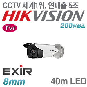 [Tvi-2M] [세계1위 [HIKVISION] DS-2CE16D0T-IT3 [8mm 40m IR]