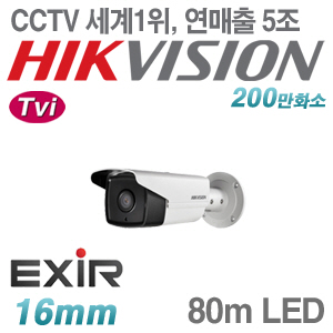 [Tvi-2M] [세계1위 [HIKVISION] DS-2CE16D0T-IT5 [16mm 80m IR]